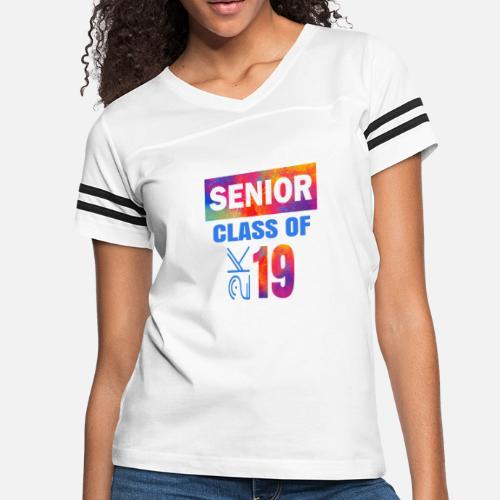 340a96c2e3b4 Senior 2019 Cool Popular Class Of 2K Graduate - Women s Vintage Sport T- Shirt. Back. Back. Design. Front