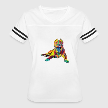 Pitbull Dog Pet Color - Women's Vintage Sport T-Shirt