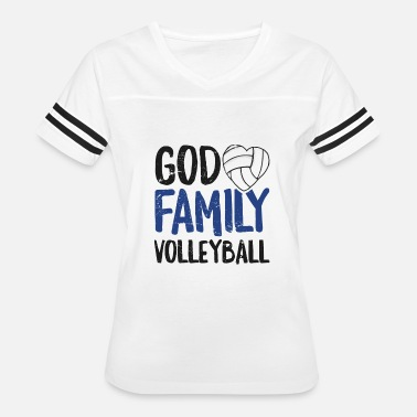 Volleyball Family God Family Volleyball TShirt Women Men Girls Player Gift - Women's Vintage Sport T-Shirt