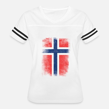 Grudge Flag Design Norway Flag Proud Norwegian Vintage Distressed - Women's Vintage Sport T-Shirt