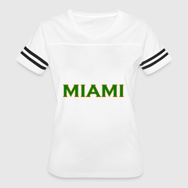 University Of Miami Funny University of Miami - Women's Vintage Sport T-Shirt