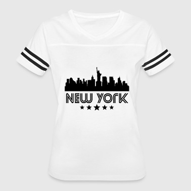 Retro New York City Skyline - Women's Vintage Sport T-Shirt