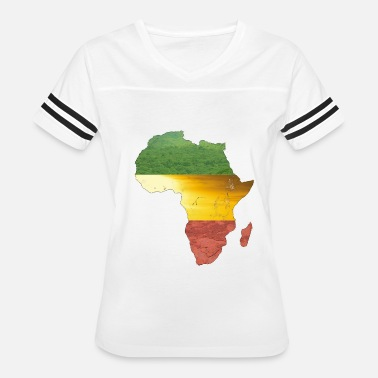 Green And Gold Africa - red, gold and green - Women's Vintage Sport T-Shirt