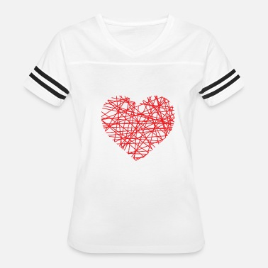 Heart Line Heart Of Lines | heart lines love red - Women's Vintage Sport T-Shirt