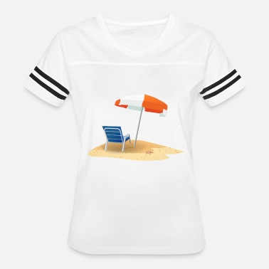 Sun Bathing bathing holiday beach sun swimming relaxing gift - Women's Vintage Sport T-Shirt