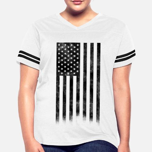 274a9417010 ... USA Flag Distressed Black - Women s Vintage Sport T-Shirt. Do you want  to edit the design