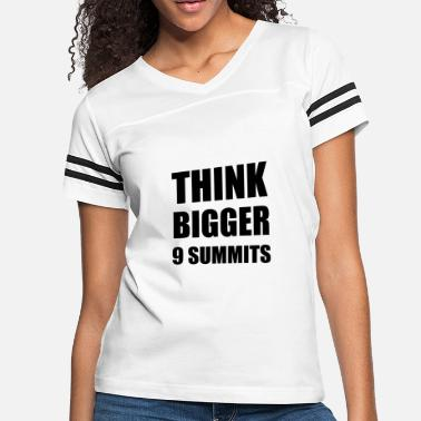 D H Kim THINK BIGGER - 9 MOTTOS OF 9 SUMMITS - Women's Vintage Sport T-Shirt