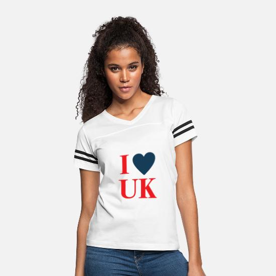 Love T-Shirts - I love uk - Women's Vintage Sport T-Shirt white/black