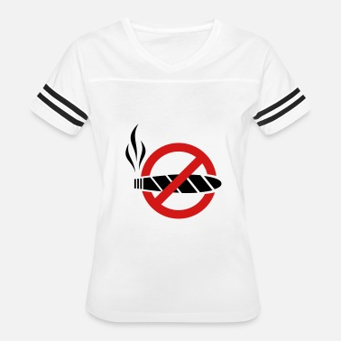 Prohibitory Sign No smoking - cigar - Women's Vintage Sport T-Shirt