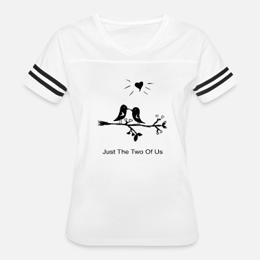 Lovebird Loved birds with kiss and heart on a branch - Women's Vintage Sport T-Shirt
