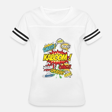Kaboom Ouch Smash Kaboom Omg Wham - Women's Vintage Sport T-Shirt