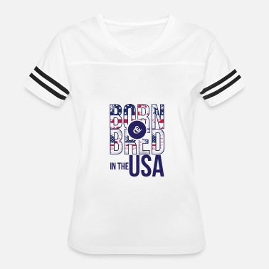 Usa Rap Born and Bred in the USA - Women's Vintage Sport T-Shirt