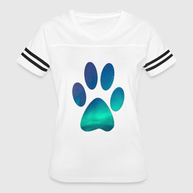 Dog Lover Dog Pawprint - Women's Vintage Sport T-Shirt