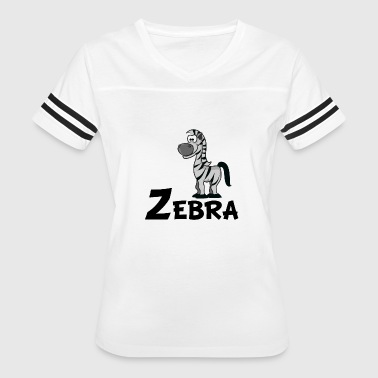 Cartoon Zebra - Women's Vintage Sport T-Shirt