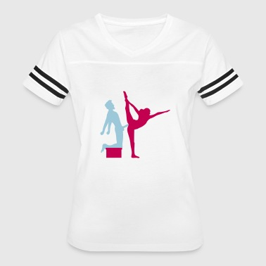 Dirty Old Man Yoga figure fitness splits sexy girl female hot cu - Women's Vintage Sport T-Shirt