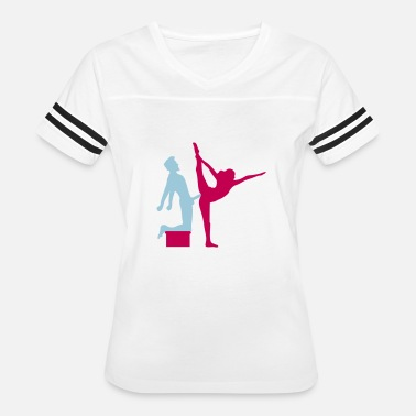 Cat Shadow Yoga figure fitness splits sexy girl female hot cu - Women's Vintage Sport T-Shirt