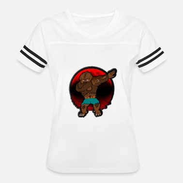 San Francisco Geek Werewolf Dabbing Halloween Funny Zombie Monsters - Women's Vintage Sport T-Shirt