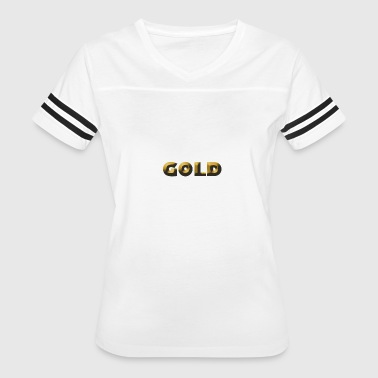 Gold Text Gold - Women's Vintage Sport T-Shirt