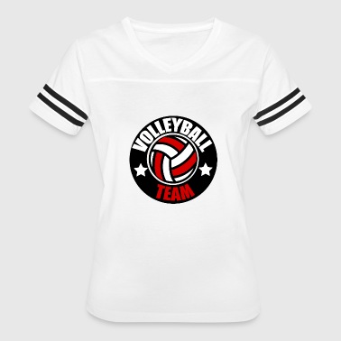 Reds Volleyball Volleyball Team Emblem Mannschaft Red - Women's Vintage Sport T-Shirt
