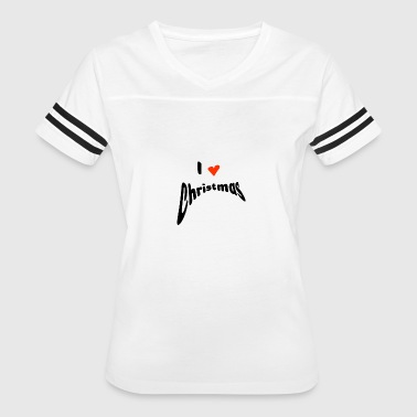I Heart Christmas I love Christmas with heart - Women's Vintage Sport T-Shirt