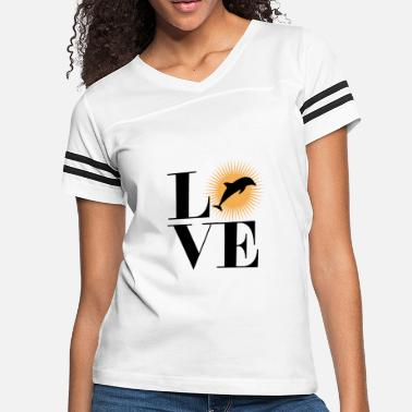 Loves Dolphins Love Dolphin - Women's Vintage Sport T-Shirt