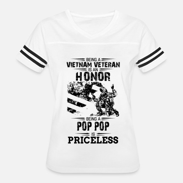 Veteran Grandpa Is Priceless Being A Veteran Is An Honor But A Pop Pop Is Price - Women's Vintage Sport T-Shirt