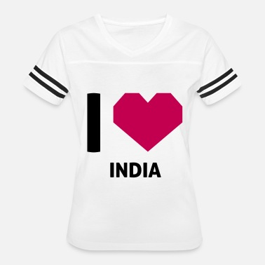 I Love India I Love India - Women's Vintage Sport T-Shirt