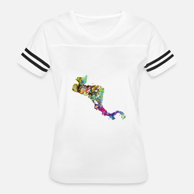 Central America Central America map with country borders - Women's Vintage Sport T-Shirt
