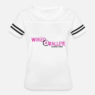 Wired4walleye Black on Pink Design - Women's Vintage Sport T-Shirt