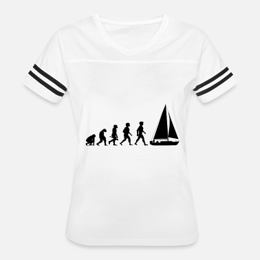 Lake Captain Sports Evolution Sailing Sailboat Water Sports - Women's Vintage Sport T-Shirt