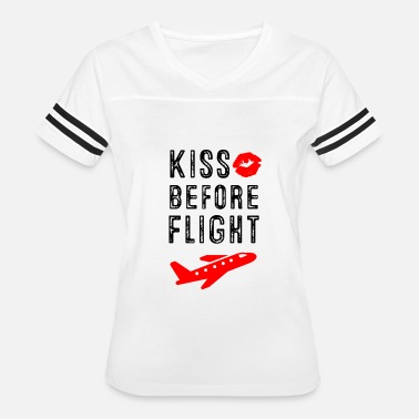 Flight Aviation Kiss before Flight - Aviation Flight Attendant - Women's Vintage Sport T-Shirt