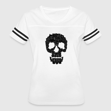 Pussy Shape Skulls are for Pussies - Women's Vintage Sport T-Shirt
