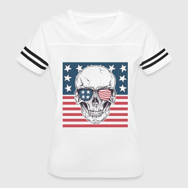 Flag Ghost American ghost - Women's Vintage Sport T-Shirt