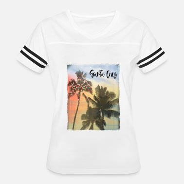Santa Cruz Beach Santa Cruz California Family Christmas Beach Palm - Women's Vintage Sport T-Shirt