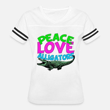 Gift Gator Peace Love Alligators - Women's Vintage Sport T-Shirt