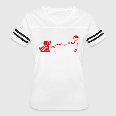 Red Buddy year of the dog BUDDY - Women's Vintage Sport T-Shirt