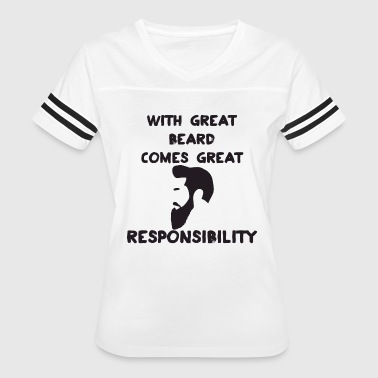 With Great Beard Great Beard - Women's Vintage Sport T-Shirt
