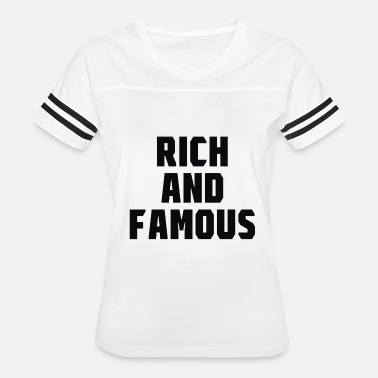 Rich And Famous Rich And Famous - Women's Vintage Sport T-Shirt