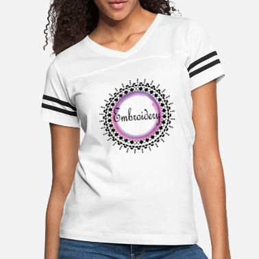 Bloom embroidery purple pink - Women's Vintage Sport T-Shirt