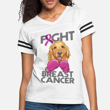 Breast Cancer Dogs Fight Breast Cancer Golden Retriever - Women's Vintage Sport T-Shirt
