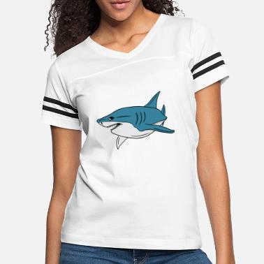 Girl Shark Fish Funny Sweet White Gift - Women's Vintage Sport T-Shirt