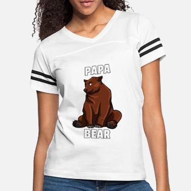 Sayings Dad Bear Browns Bears Funny Sweet Papa Daddy Gift - Women's Vintage Sport T-Shirt