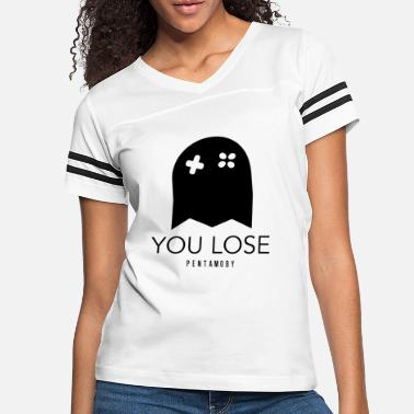 GAMER GHOST YOU LOSE VIDEOGAME 80s ARCADE (b) - Women's Vintage Sport T-Shirt