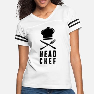 Head Chef Family Outfits Group Matching Shirts Head Chef - Women's Vintage Sport T-Shirt