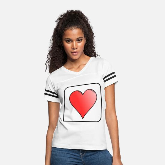 Play T-Shirts - Cards - Women's Vintage Sport T-Shirt white/black