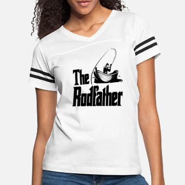 Saltwater The Rodfather Funny Dad Fishing Gift - Women's Vintage Sport T-Shirt