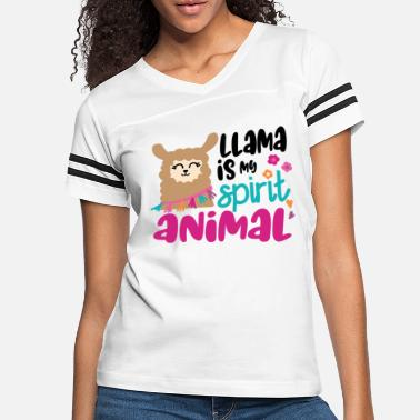 Artfetish Llama is My Spirit Animal Graphic Art Cute Alpaca - Women's Vintage Sport T-Shirt