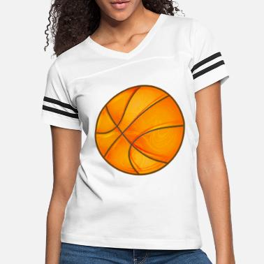Element Basketball in bright shiny glowing orange. - Women's Vintage Sport T-Shirt