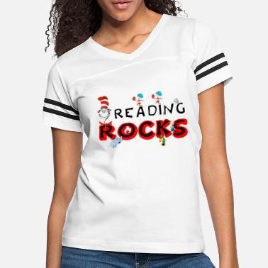 Dr Seuss rock reading - Women's Vintage Sport T-Shirt