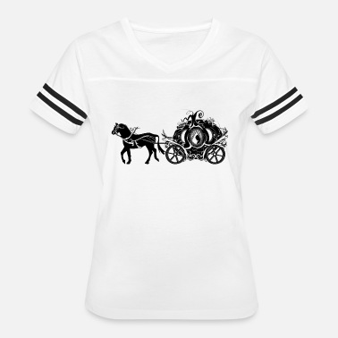bdcc6560 Cinderella in the Pumpkin Carriage Women's Scoop-Neck T-Shirt ...
